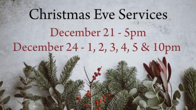 Regular Sunday Services, Dec. 22